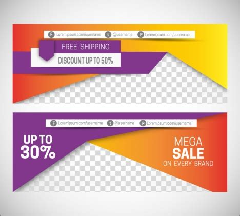 header design sle sales promotion banners on 3d modern style background