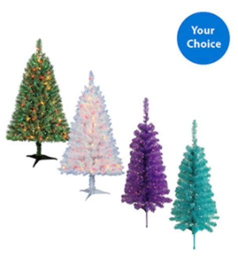 walgreens artificial christmas tree 4 ft pre lit tree only 10 free in store