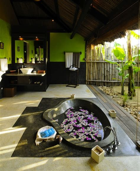 tropical home decor elements with relaxing bathtub with 25 wonderful tropical bathroom design ideas