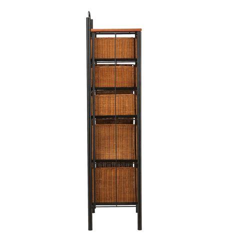 5 Drawer Wicker Storage by Sei Iron Wicker Five Drawer Unit Storage Chests