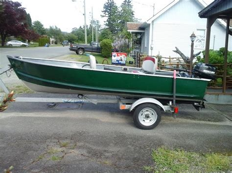 12ft jon boat with trailer 12ft aluminum boat trailer and motor port alberni alberni