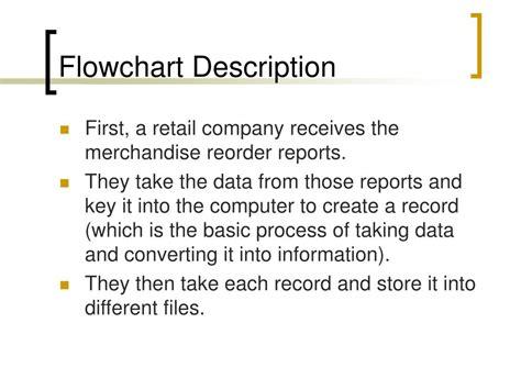 flowchart description ppt system flowchart inventory management system