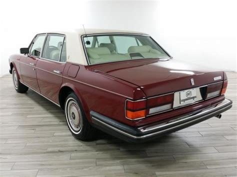 roll royce burgundy 1990 sedan used automatic leather burgundy