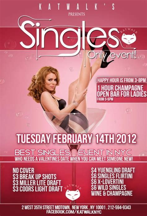 s for singles singles only event at katwalk murphguide nyc bar guide