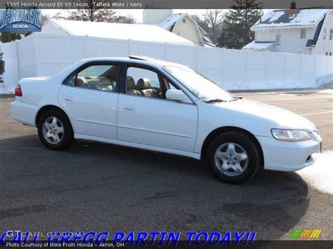 1998 honda accord white 1998 honda accord ex v6 sedan in taffeta white photo no