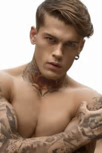 stephen james shows off his tattoos for risbel magazine