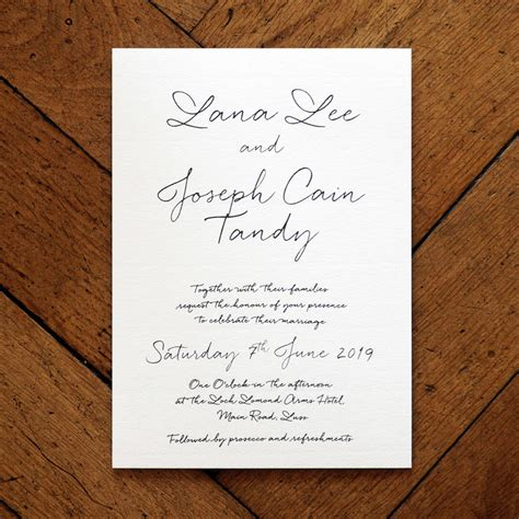 Wedding Card Letter by Letter Wedding Invitation Feel Wedding Invitations