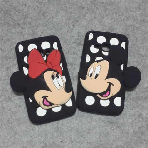 Samsung J120 J1 2016 3d Mickey Mouse Ear Cover Casing Iring Bagus luxury mickey minnie mouse mobile phone 3d
