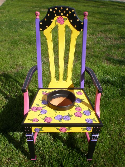 Painted Armchair by Unique Painted Chairs For Your Garden Valley Gardening