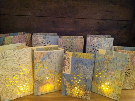 travel decor 20 small map luminaries wedding decor travel theme by