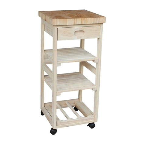 Kitchen Cart At Lowes Shop International Concepts Rubber Kitchen Cart At