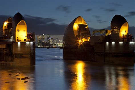 thames barrier at night thames barrier london s flood defence climate change cafe