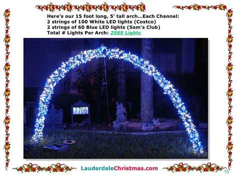 led light arches how to build leaping light arches