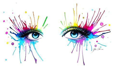 Pixy Hypnotic Eyeliner rainbow speedpainting tutorial by pixiecold on