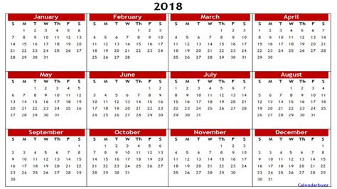 printable calendar 2018 year 2018 yearly calendar printable templates of word excel