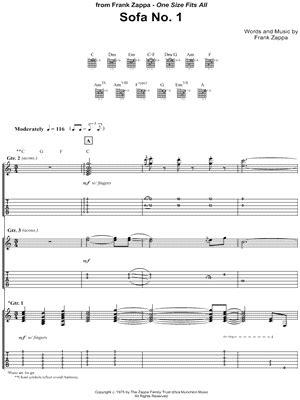 Frank Zappa Sofa by Frank Zappa Quot Sofa No 1 Quot Guitar Tab Print
