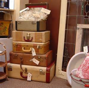 decorating with vintage shabby chic suitcases i heart