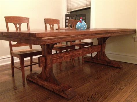 farm dining room table ana white double pedestal farmhouse table 8 feet diy