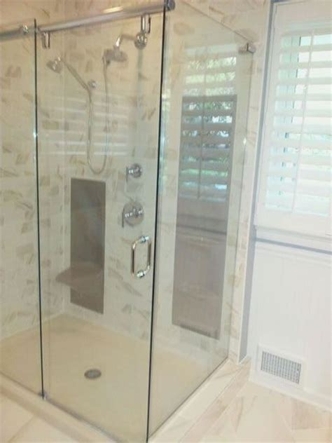 Shower Doors Maryland Maryland Shower Enclosures Frameless 90 Degree Slider