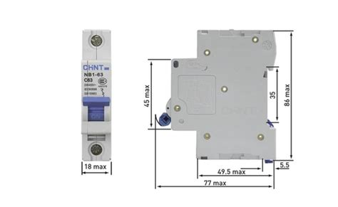 Mcb 1 Phase Chint 6a 40a 1 chint 40a single pole 6ka c type mcb nb1 63c1p40 rs