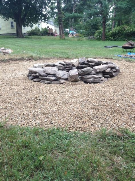 rocks for pits pit traditional landscape boston