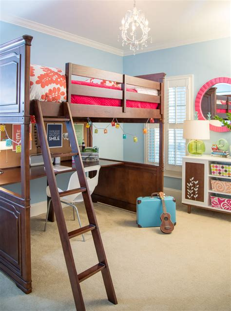 kids bunk beds with desk bunk beds with desk kids traditional with built in closets