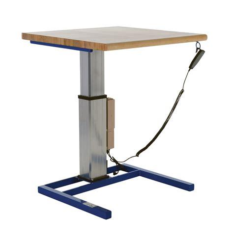 adjustable height work vestil adjustable height work tables