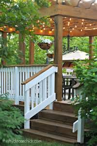 Decks With Pergolas by Deck With Pergola Railings And Thrifty Decor On Pinterest