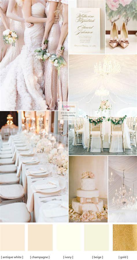 chagne wedding colors elegance wedding palette