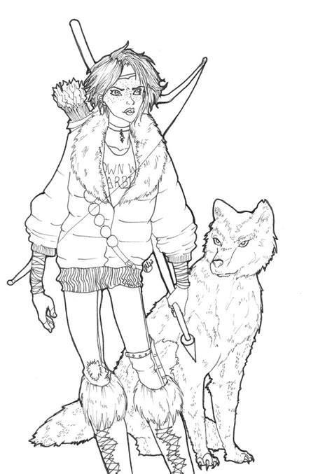 a and her wolf by murbur14 on deviantart