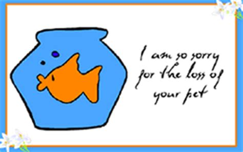 sorry for your loss card template printable pet loss fish goldfish sympathy condolence