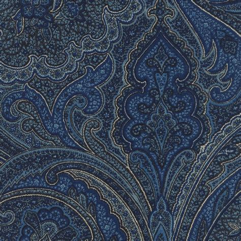 Blue Paisley Upholstery Fabric p kaufmann paisley ink blue multipurpose cotton