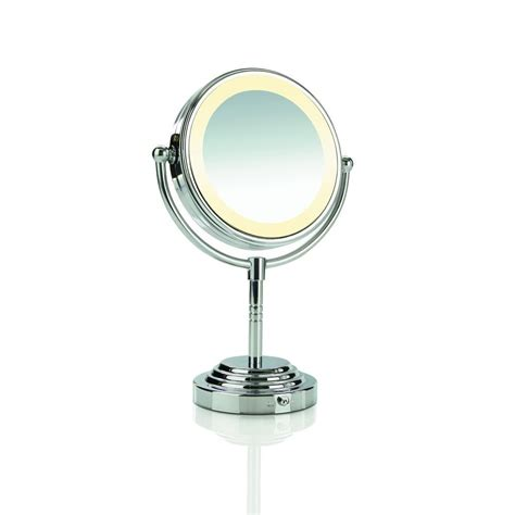 Conair Lighted Makeup Mirror by Conair Lighted Pedestal Makeup Mirror Battery Or Ac