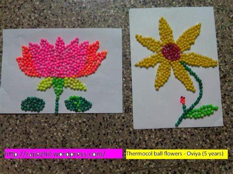 crafts with thermocol balls flower craft artsy craftsy