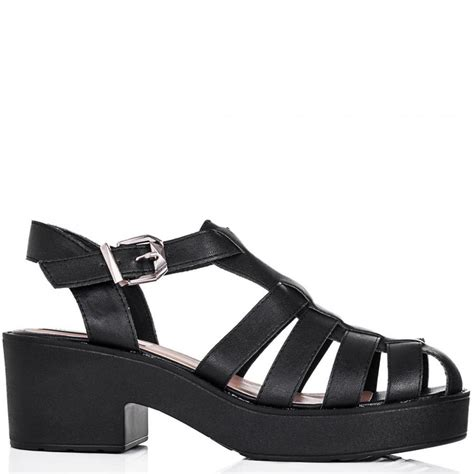 black sandals buy ocean chunky sole platform gladiator sandal shoes