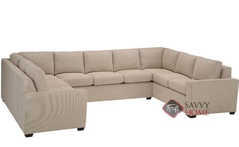 u shaped sectional couch geo fabric true sectional by lazar industries is fully