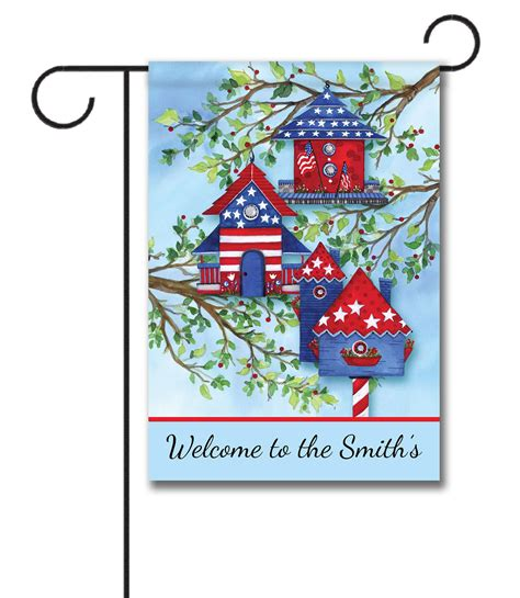 Personalized Garden Flags For by Personalized American Birdhouses Garden Flag 12 5 X