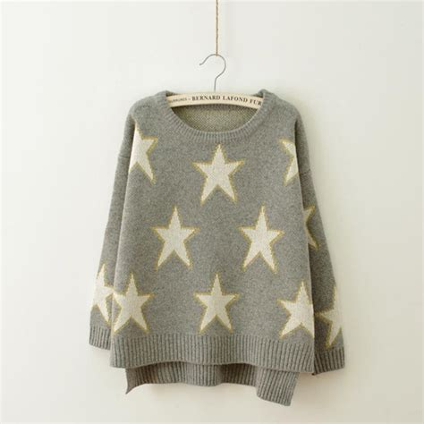 knitting patterns winter sweaters womens knitted sweater star pattern autumn winter ladies