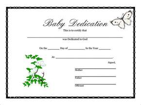 baby dedication certificate 7 download free documents
