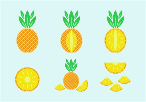 free vector free pineapple vector pack free vector