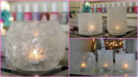 how to make winter decorations diy winter room decor winter votives