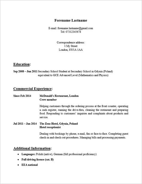 format zdjecia cv cv po angielsku biznesowy punkt widzenia
