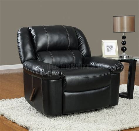 Bonded Leather Recliners by U9966 Reclining Sofa Black Bonded Leather Global