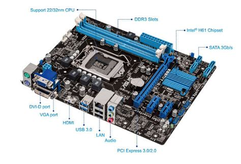 Mainboard Asus H61m C Socket Lga 1155 h61m a usb3 motherboards asus global
