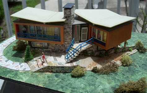 model houses vintage ho scale model house assembled scale model buildings pin