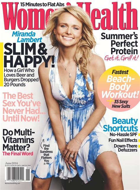 women magazine miranda lambert women s health magazine june 2014 issue