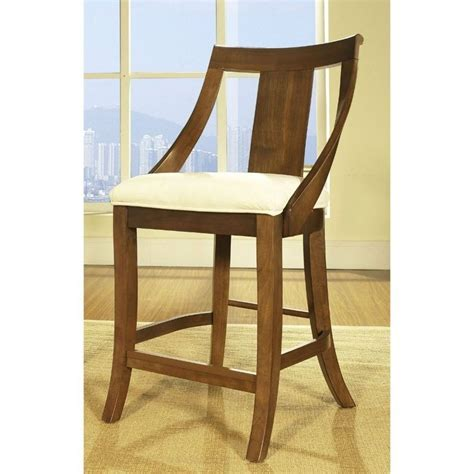 Standard Bar Stool Height For 42 Inch Counter by Gatsby 42 Quot Bar Stool In Medium Brown Walnut Counter Height 24 Quot 27 Quot Ebay