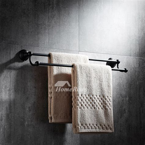 black towel racks bathroom