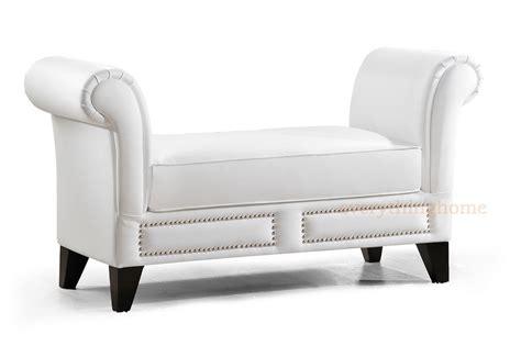 white faux leather bench black white faux leather gray linen scroll arm entry way bench nail head trim ebay