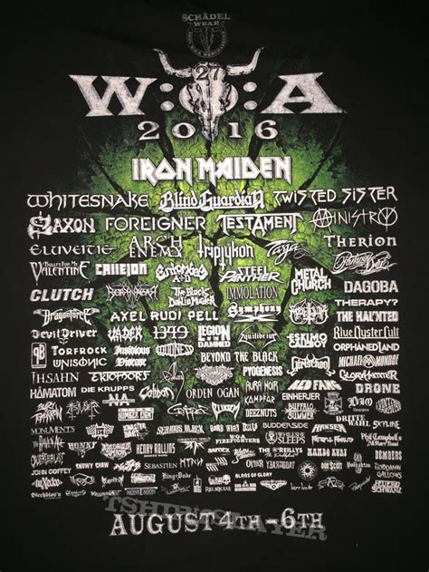 T Shirt 2016 wacken open air 2016 festival shirt tshirtslayer tshirt